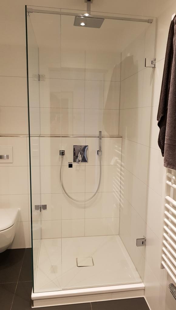 UV Verklebung an Dusche Glasdusche Milano Original von KL Glaskabine ohne Dichtung senkrecht