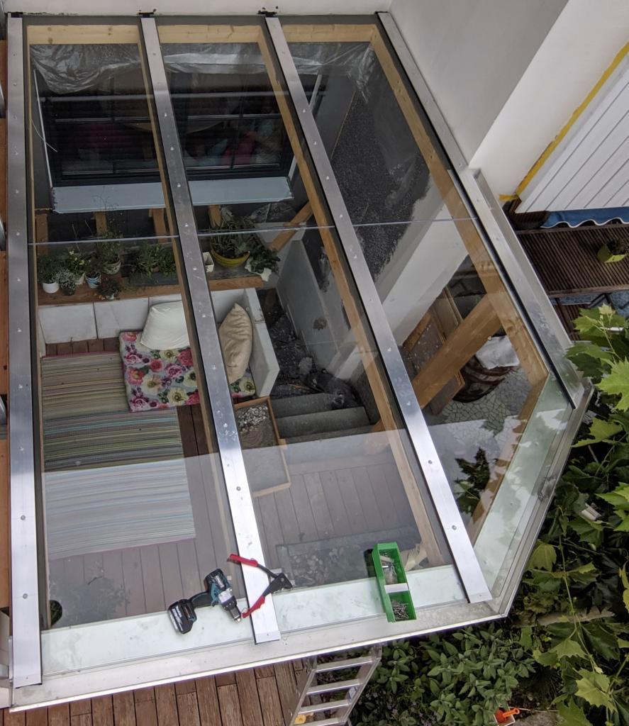 Dachkonstuktion für Holzunterbau